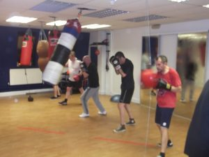 Group boxing session